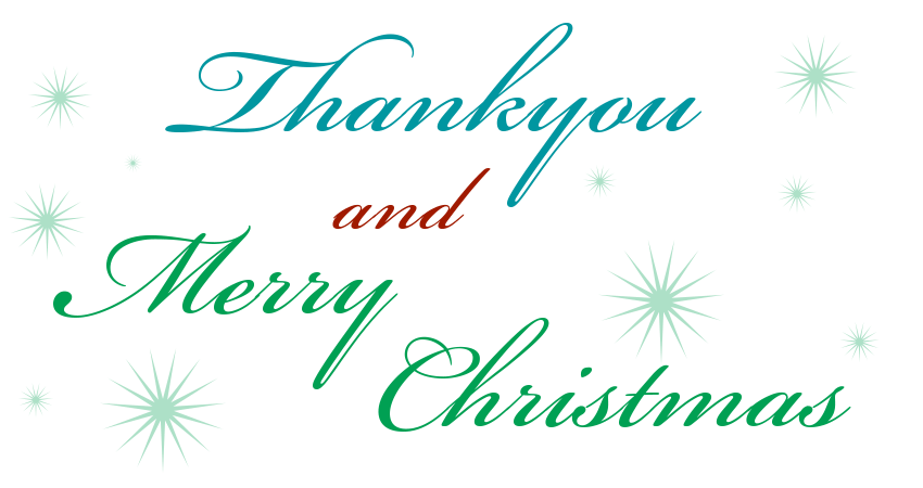 Thankyou, Merry Christmas & Email Newsletter News